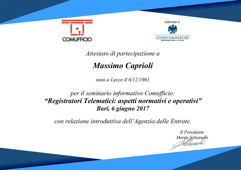 Seminario RT Massimo Caprioli